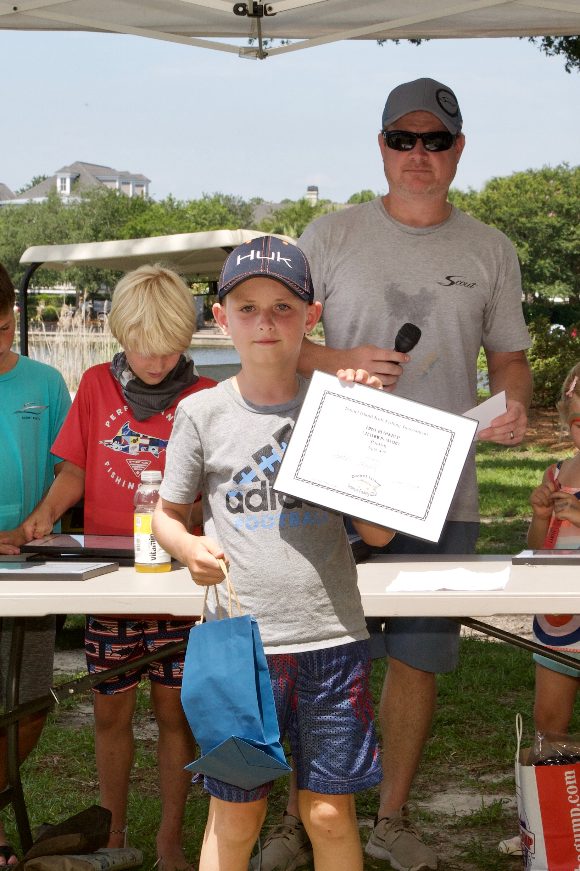 Hunter Colwell -  Champion Award, 1st Runner Up,  Panfish, Ages 4-9.