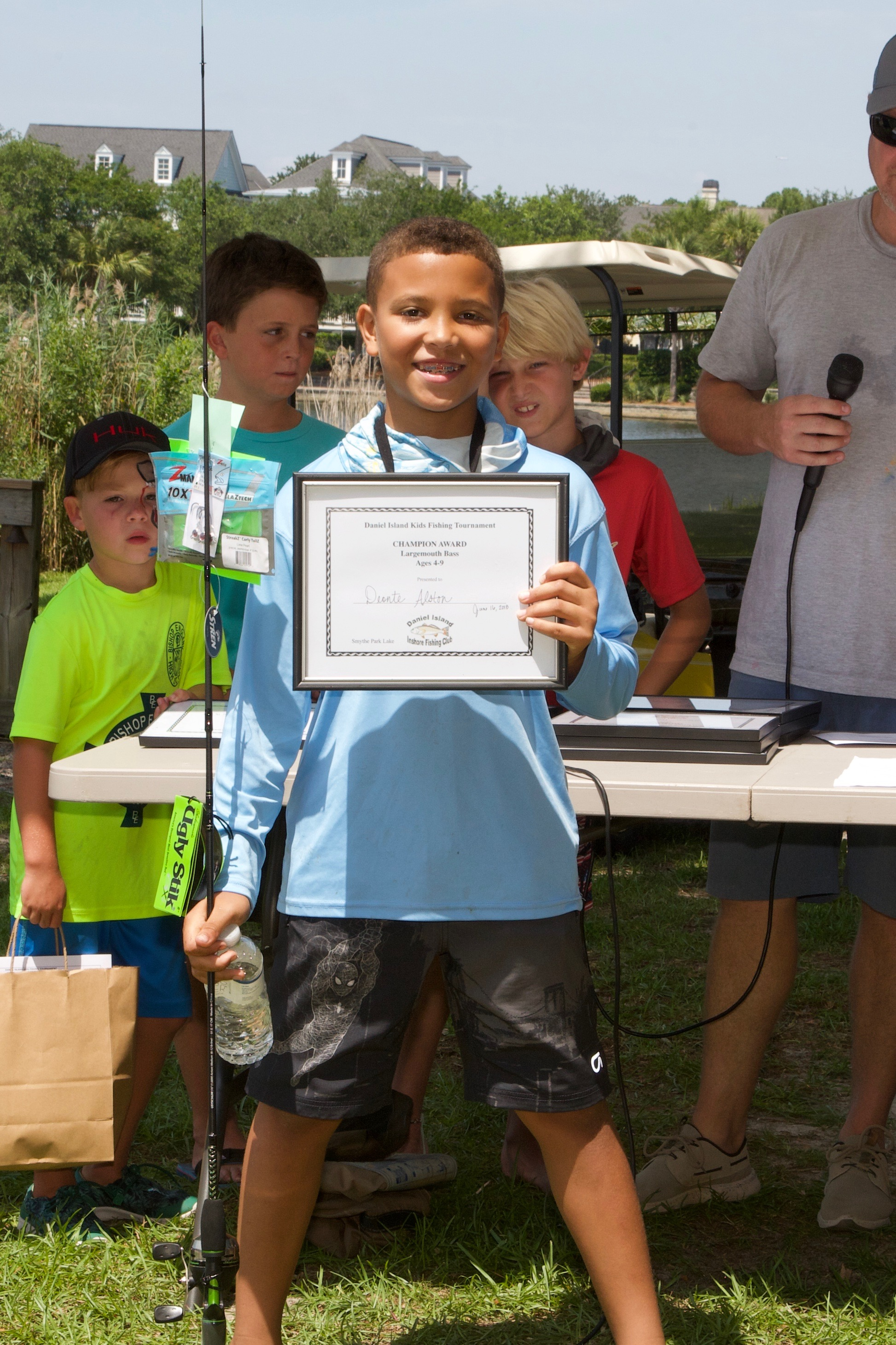 Deonte Alston – Champion Award, Largemouth Bass, Ages 4-9.