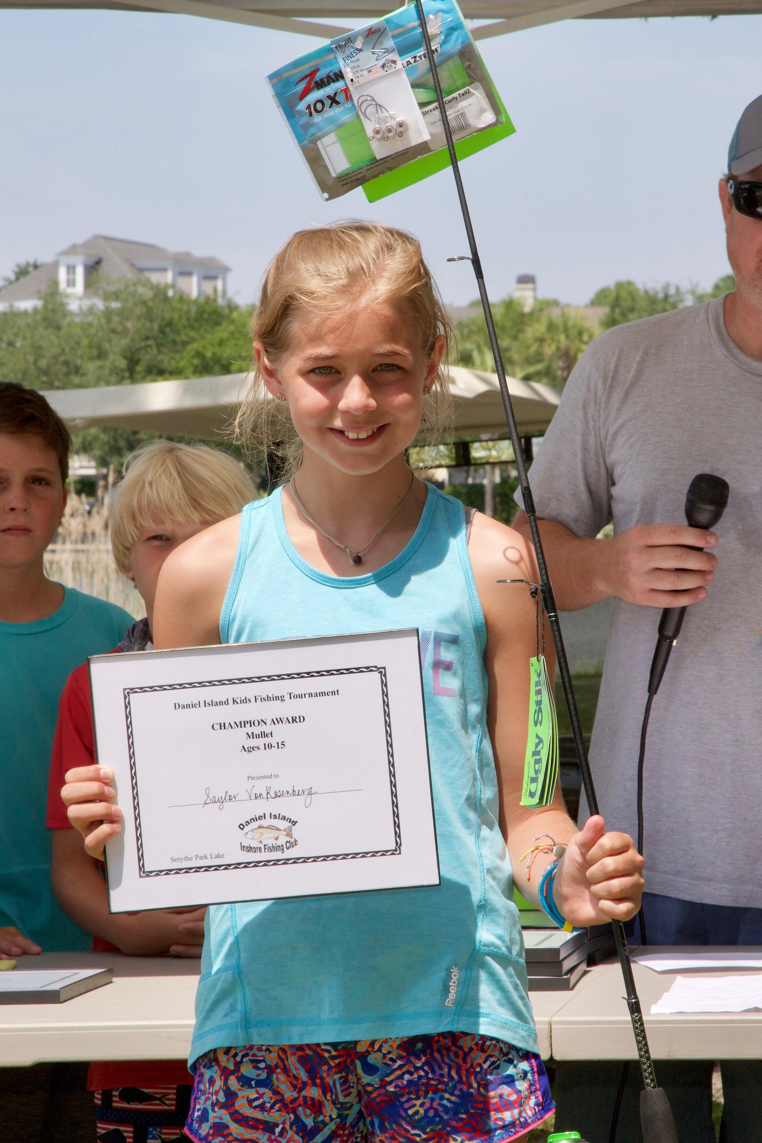 Saylor Von Rosenberg – Champion Award, Mullet, Ages 10-15.
