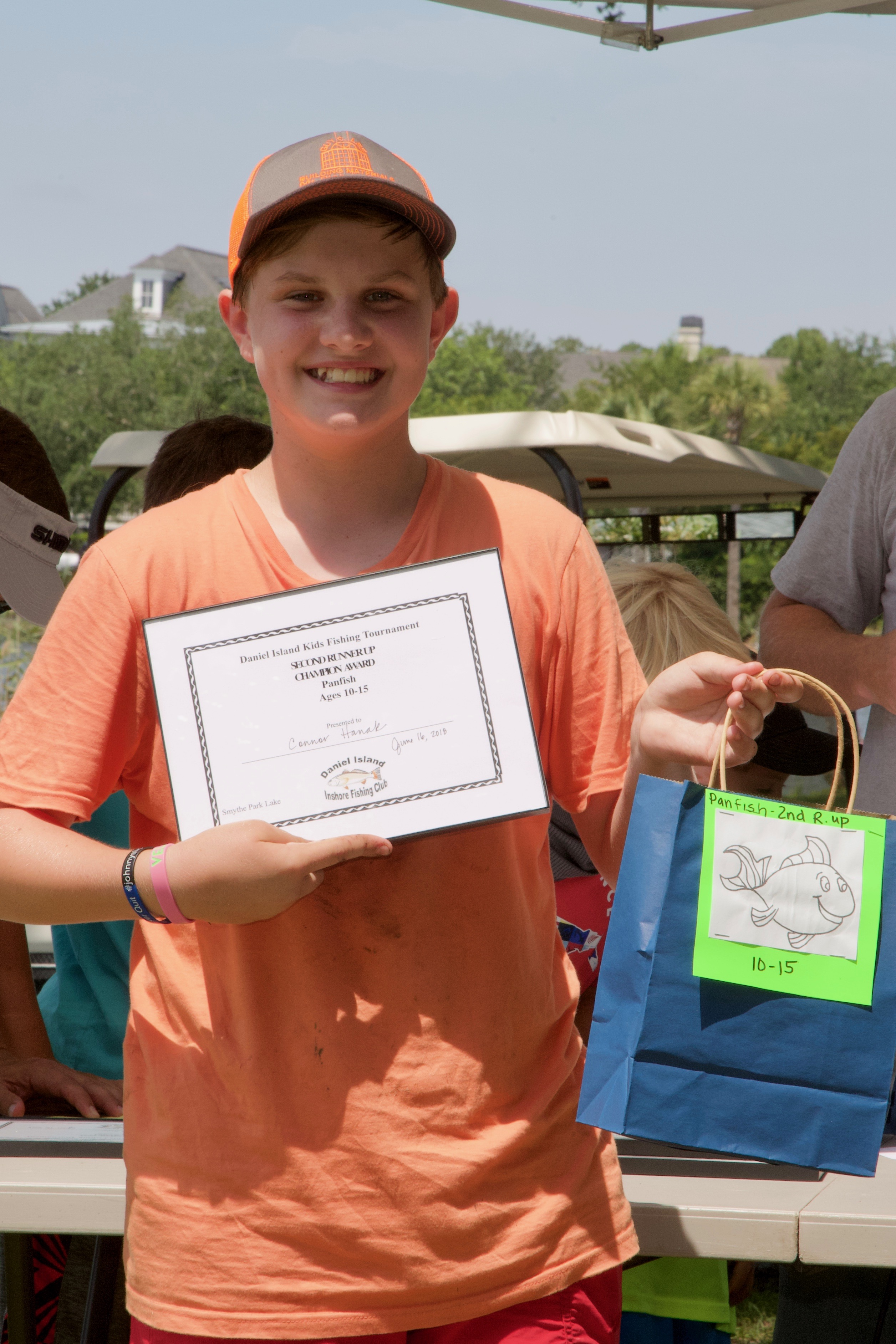 Connor Hanak - Champion Award, 2nd Runner Up,  Panfish, Ages 10-15.