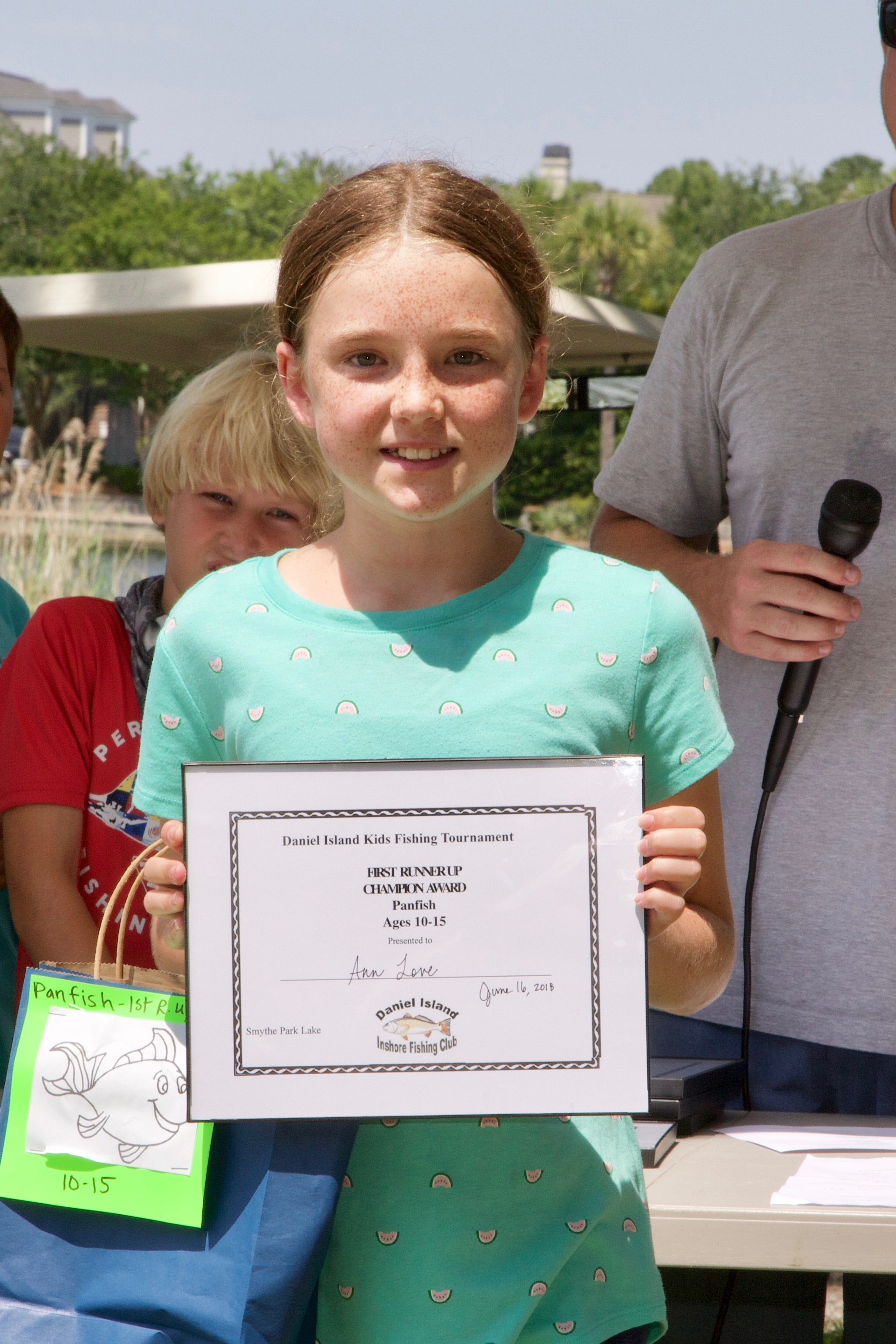 Ann Love – Champion Award, 1st Runner Up,  Panfish, Ages 10-15.