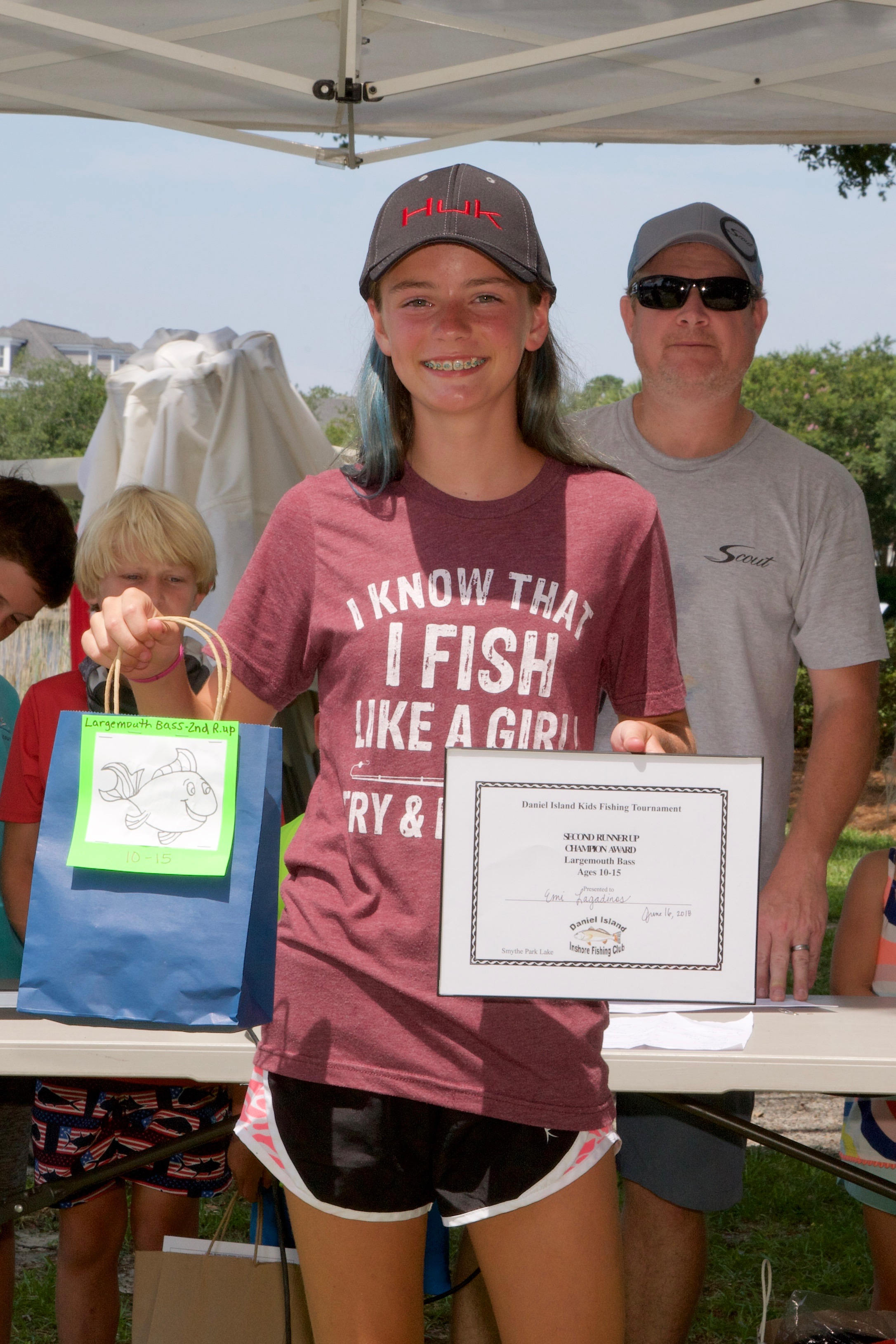 Emi Grace Lagadinos – Champion Award, 2nd Runner Up, Largemouth Bass, Ages 10-15.