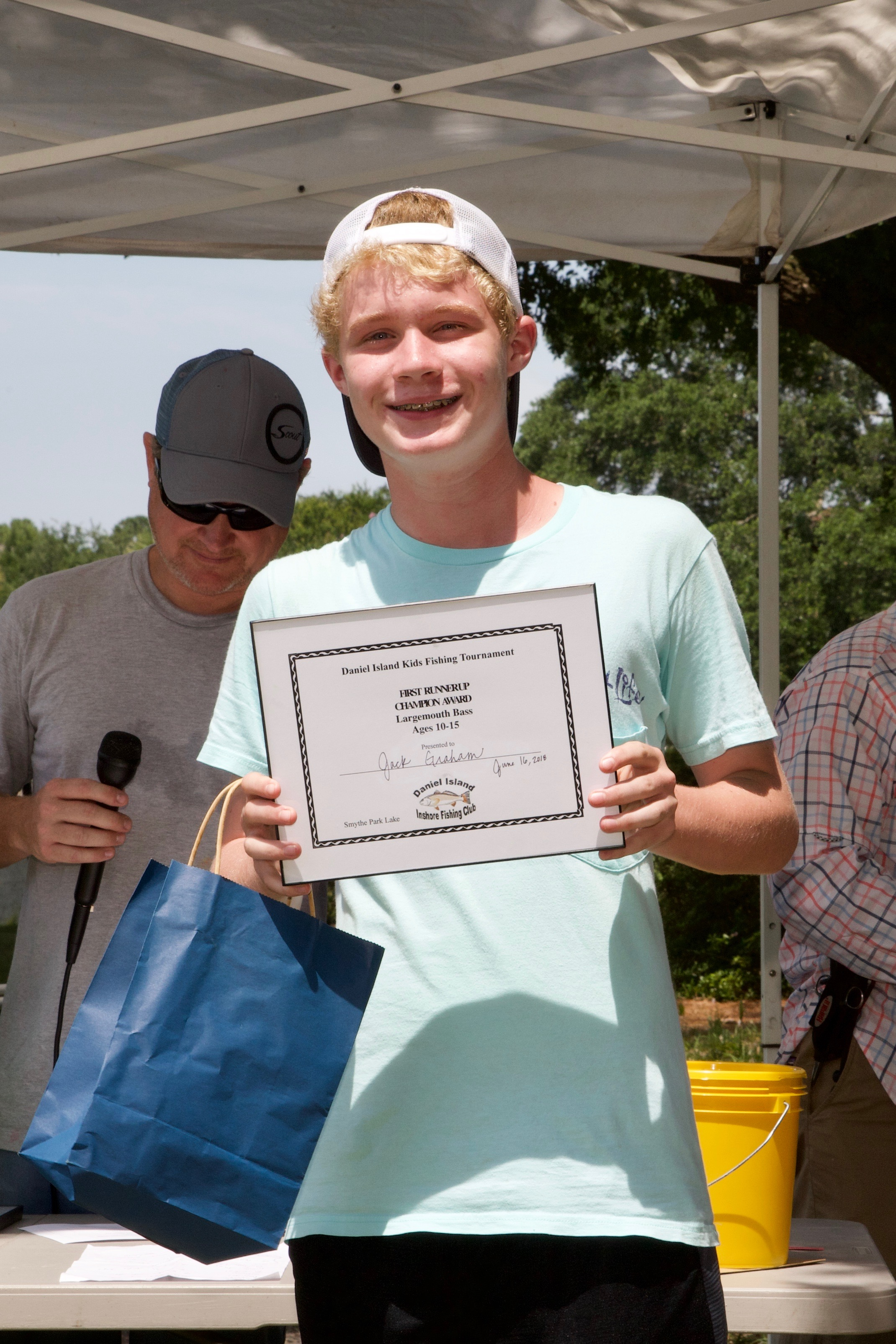 Jack Graham – Champion Award, 1st Runner Up, Largemouth Bass, Ages 10-15.