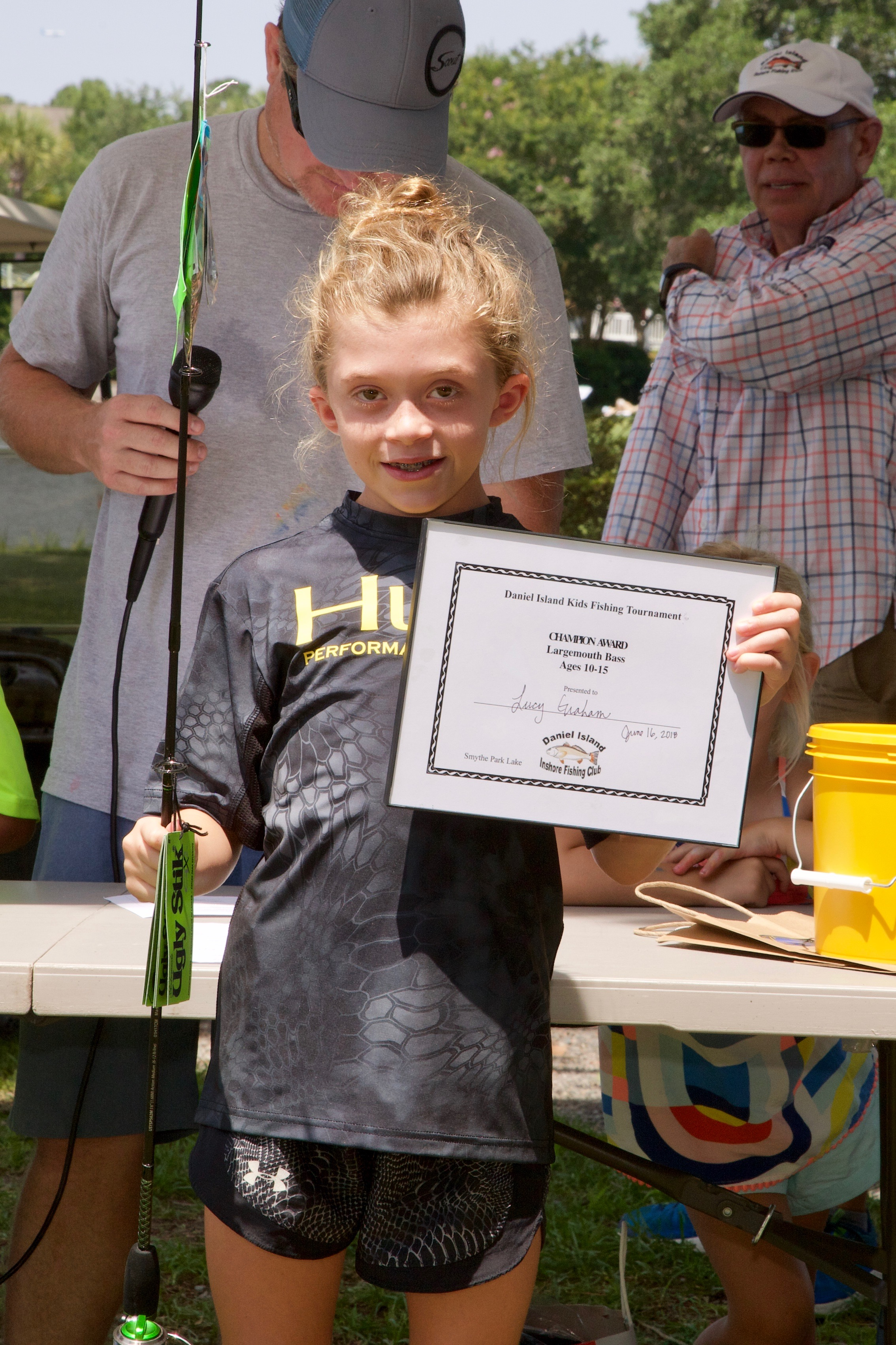 Lucy Graham – Champion Award, Largemouth Bass,  Ages 10-15.