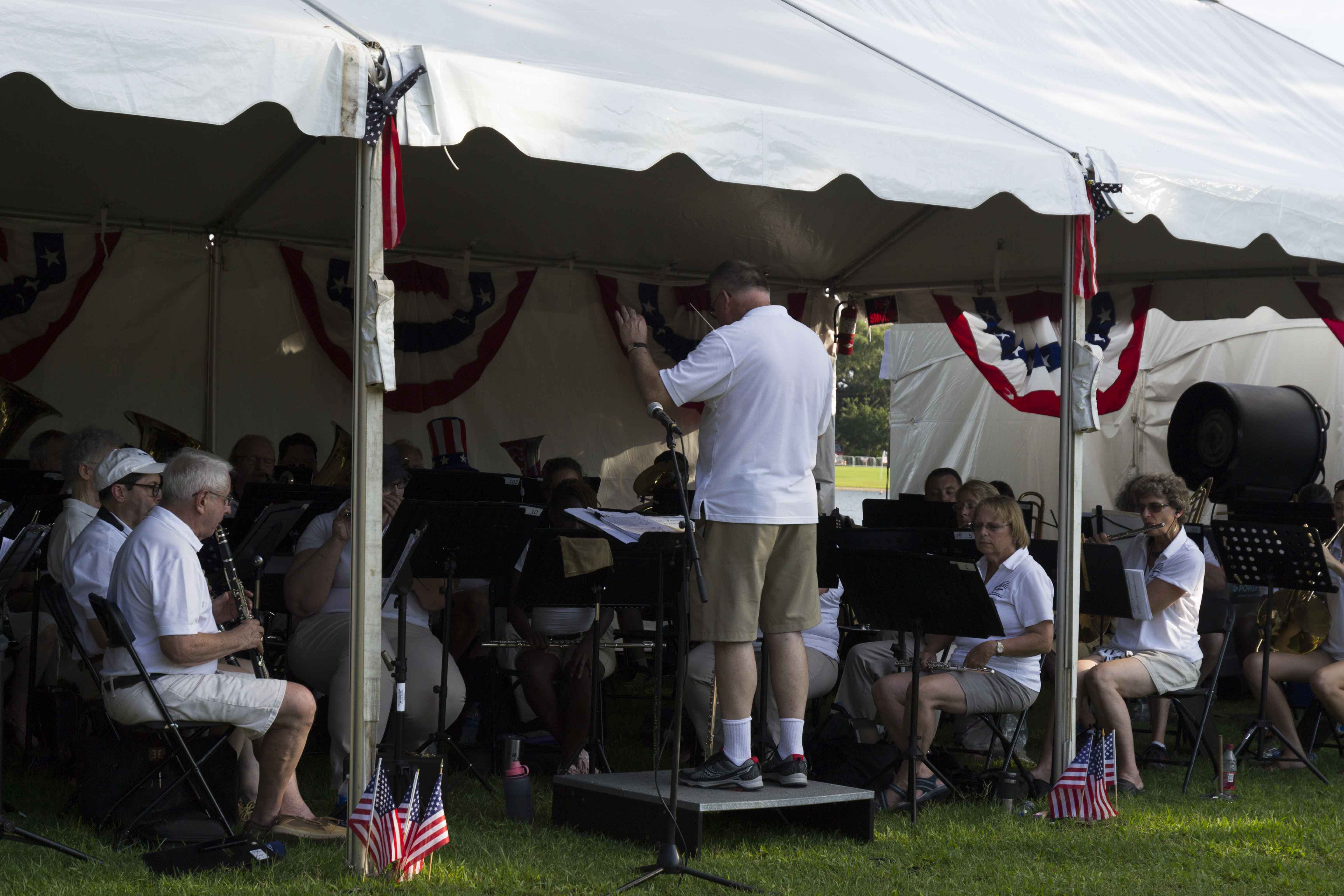 Two bands provided back to back lakeside concerts on July 3.