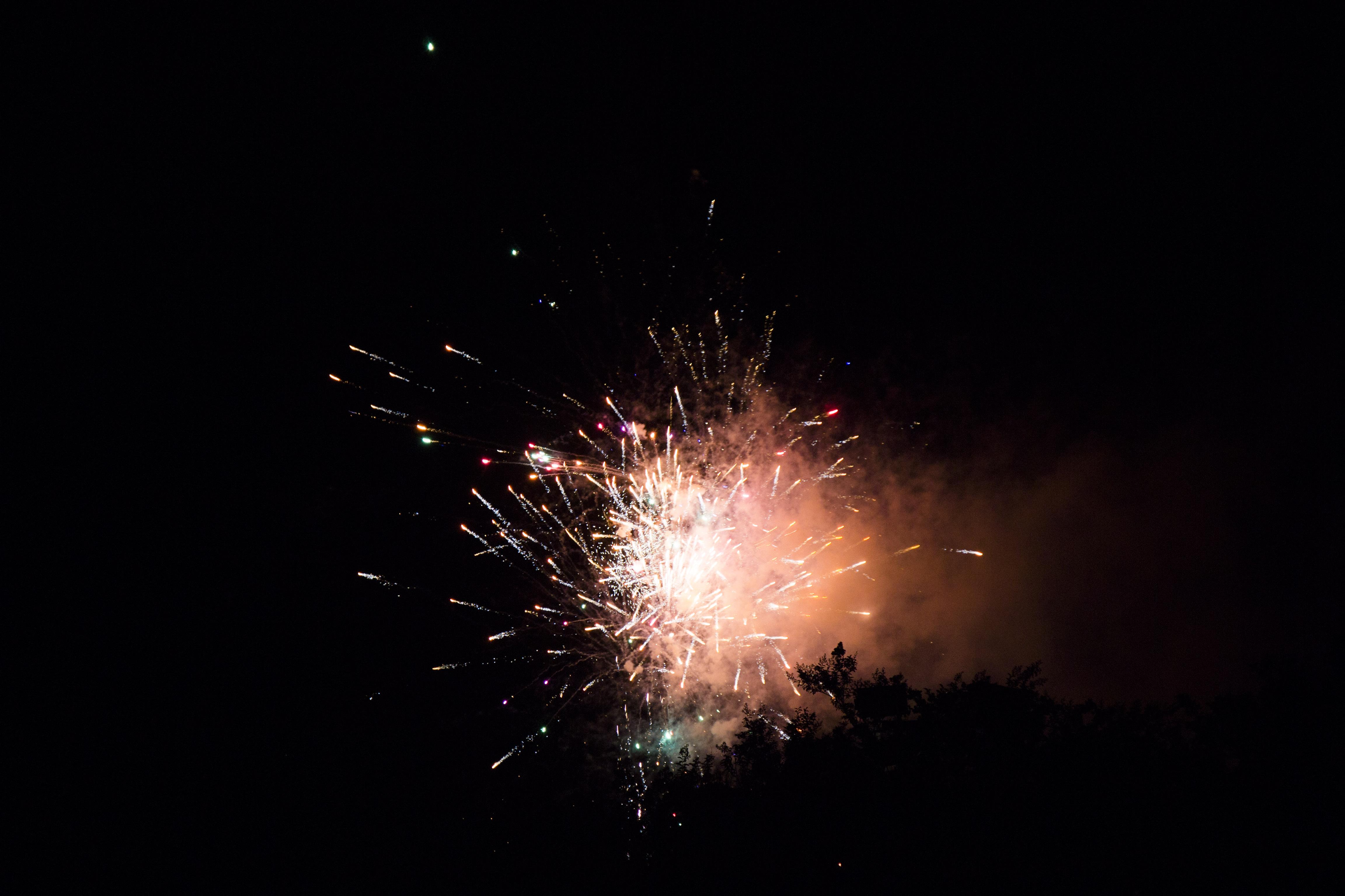 Fireworks lit up the night sky over Smythe Lake!