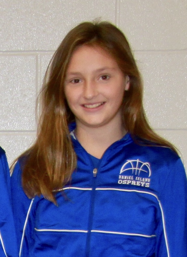 "BEATRICE ROSATO 6th grade girls  ""Snagging countless rebounds and scoring at critical moments in this weeks' games, Beatrice Rosato is the 6th grade Player of the Week. In Wednesday's 20-18 buzzer beater loss, Bea sank a foul shot with 20 seconds remaining to tie the game. Then in the Ospreys' final win (to clinch a playoff berth), Bea hit a shot to take the lead with under one minute to go. Then our defense took over to seal the win and the girls' seventh win in eight games, finishing the season with 7-5 record."" - Coach Steve Reed"