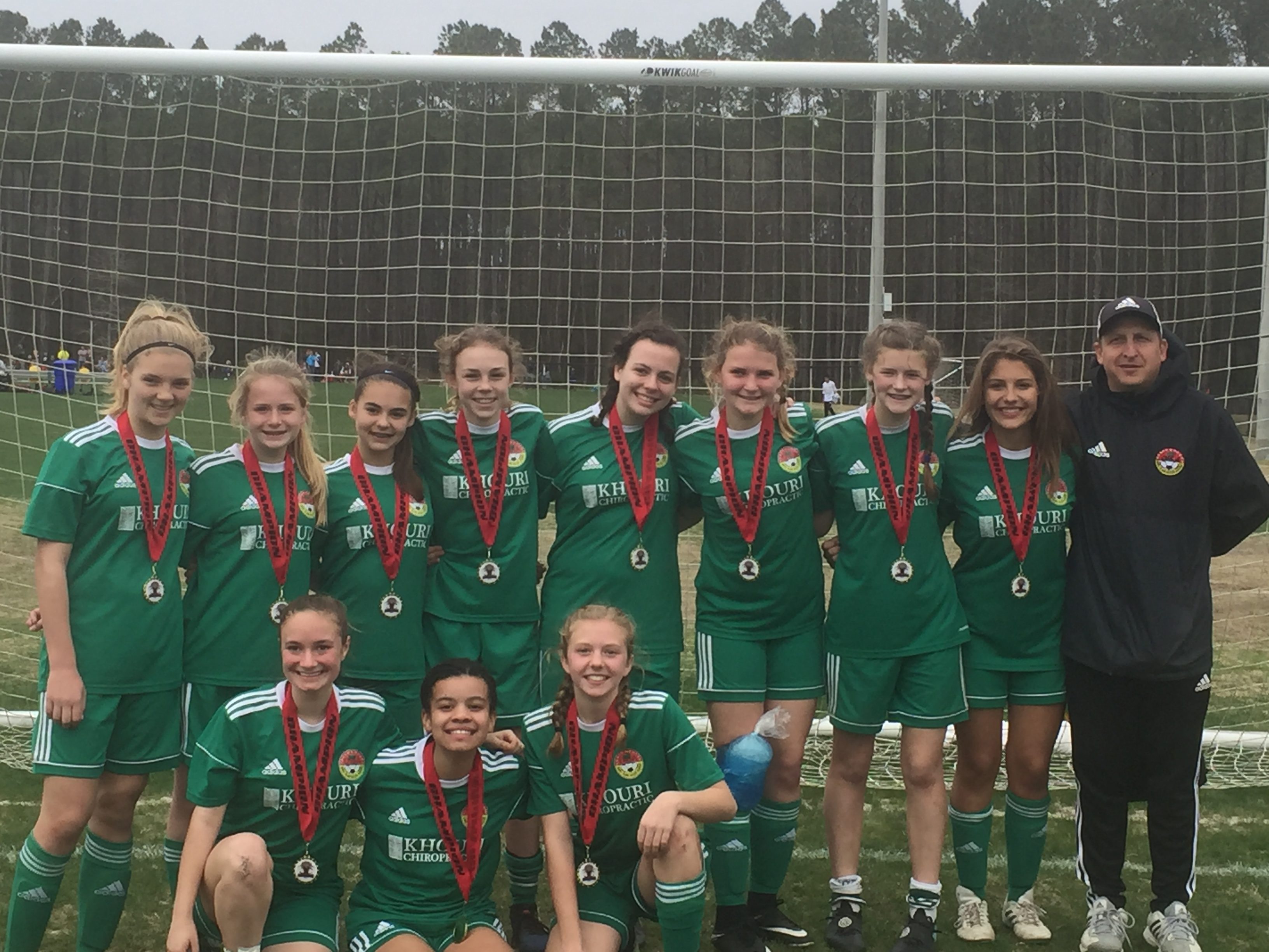 DISA's U14 Gators! Standing (L to R): Grace Herman, Emily Scarth, Makayla Brunetti, Meredith McDonald, Cecilia Ollis, Jen Slozak, Emma Darnell, Stephanie Kirk and Coach Andrew Kirk. Front row (L to R): Morgan Ramsey, Gabby Hylton and Claire Esse. Not pictured are Avery Darr, Morgan Davis and Carly Becvinovski.