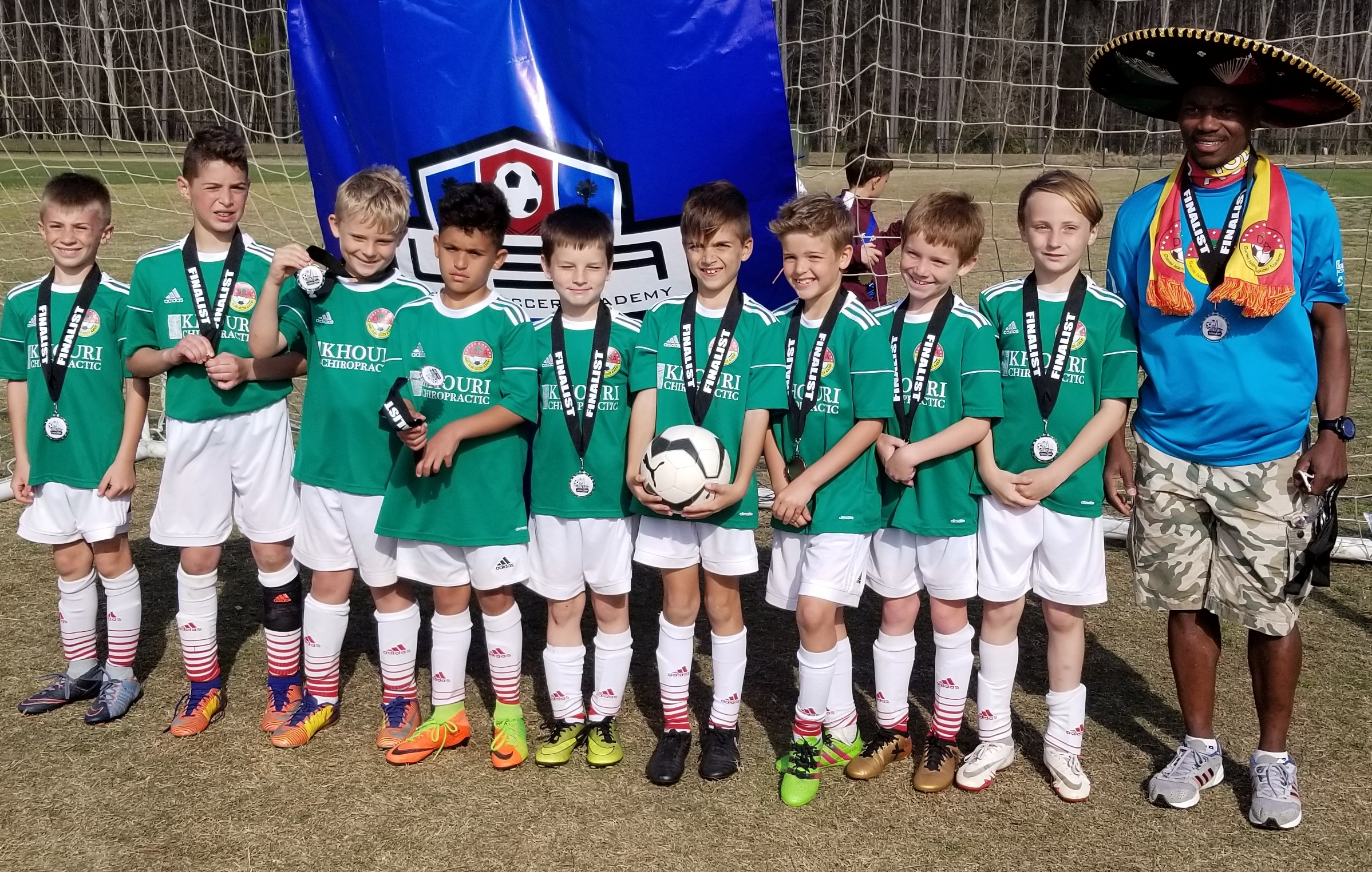 DISA's U10 Arsenal team was a finalist in the Mount Pleasant Spring Shootout March 17-18. Pictured are Lucas Rizzetto, Sam Pelsnik, Logan Leddy, Gunner Khouri, Thomas Terry, Nate White, Brady Evin, LJ LeVeen, Pierce Johnson and Coach Robert Nosakhare.