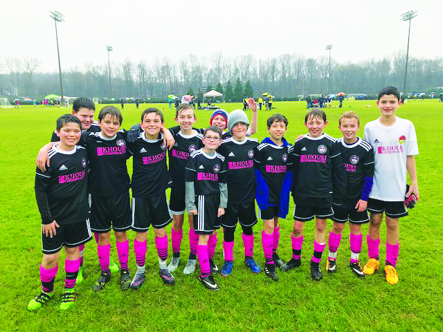 DISA's U12 Chelsea team finished first as champions in their division at the Ray Thompsett Invitational Soccer Tournament. Pictured are Gibson Ohlson, Lucas Fetten, Grayson Davis, Andrew Putignano, Ryan Heineck, Owen Terry, Rowan Pennell, Mac Harris, Luke Pawlik, Andrew Rosebrock, Miquel Alomar and Nicholas Pawlucy. Coach: Jonathan Caratella. Not pictured is Jack Pottieger.