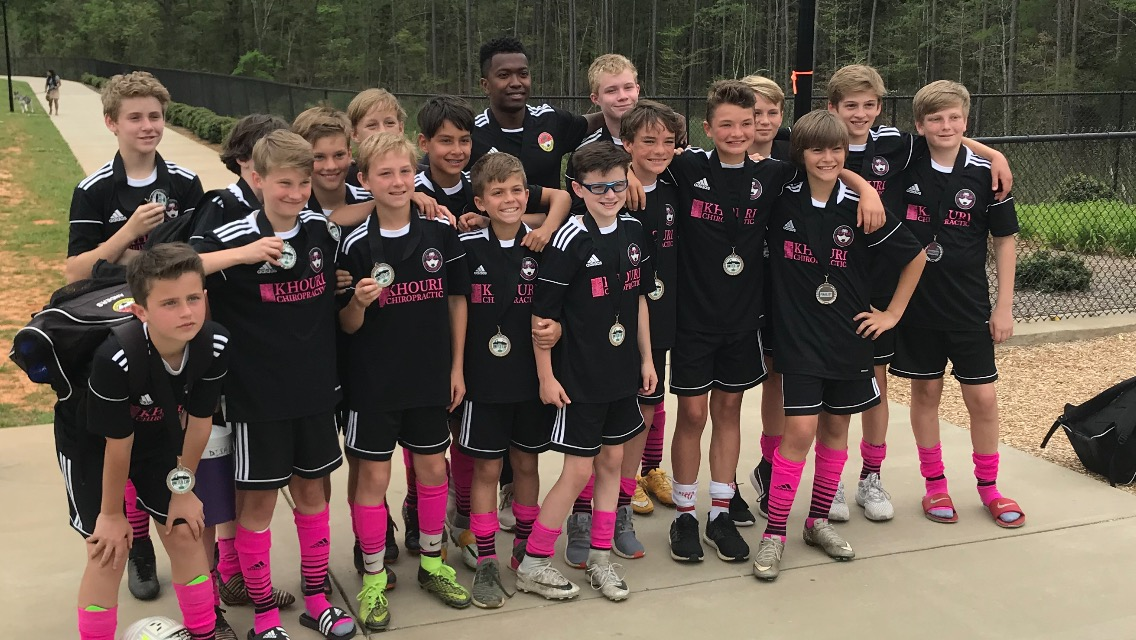 DISA U13 United – Finalists Front row (left to right): Anders King, Ben Patrick, Charlie Olson, Nicholas Brunetti, Quinn McDougall, Ty Ryan, Hudson Davis, Evan Williams. Back row: Dillon Snelgrove, Mateau Bordas, Bryce Franko, Jack Bergren, Nic Marin, Coach Erik Cobb, Jack Graham, Henry Humphreys, Zach Mullen and Daniel DeVries.