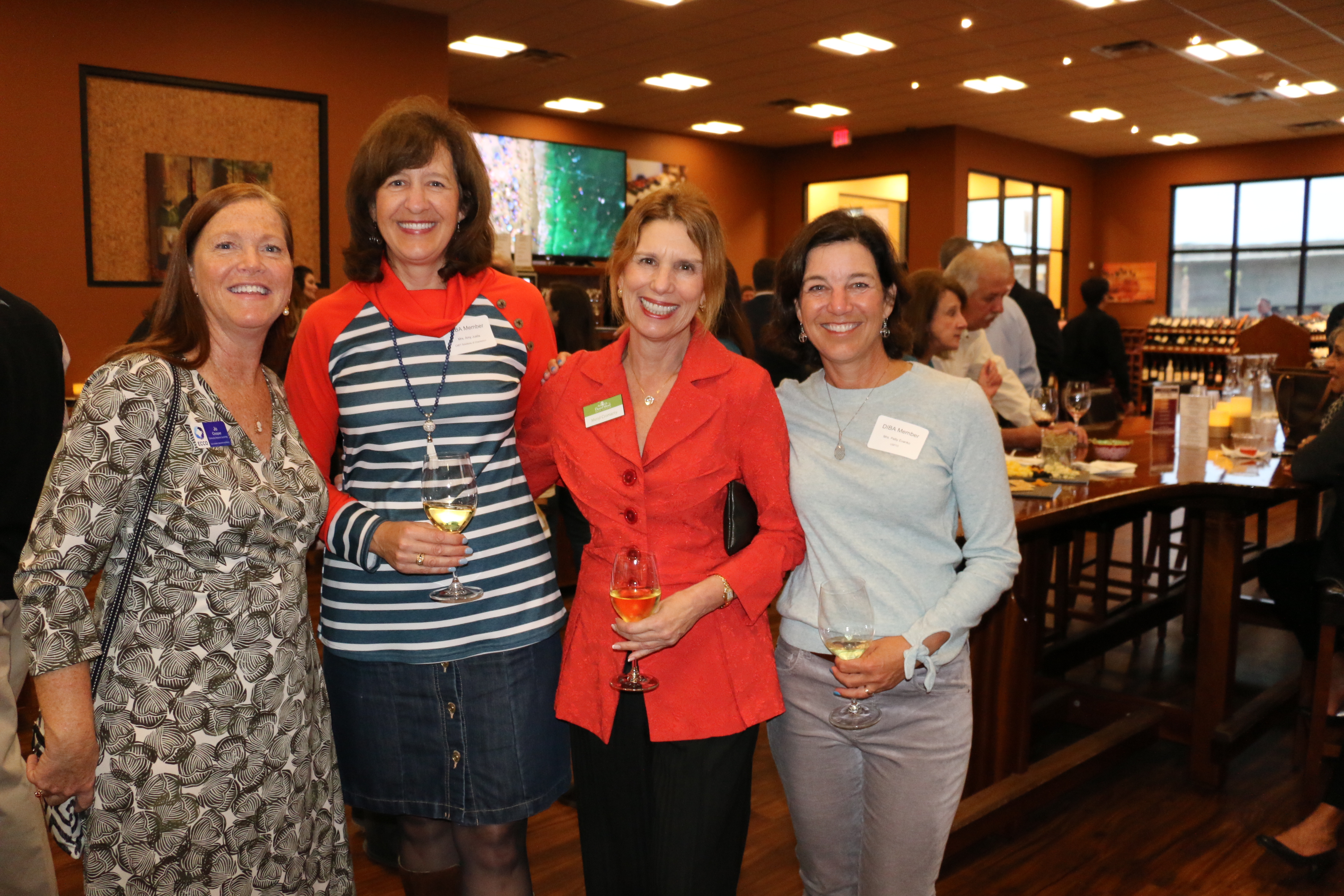 DIBA Members Jo Cooper of ECCO, Amy Justice of CMIT, Meryl Cromarty of Daniel Island Real Estate and Patty Evanko.