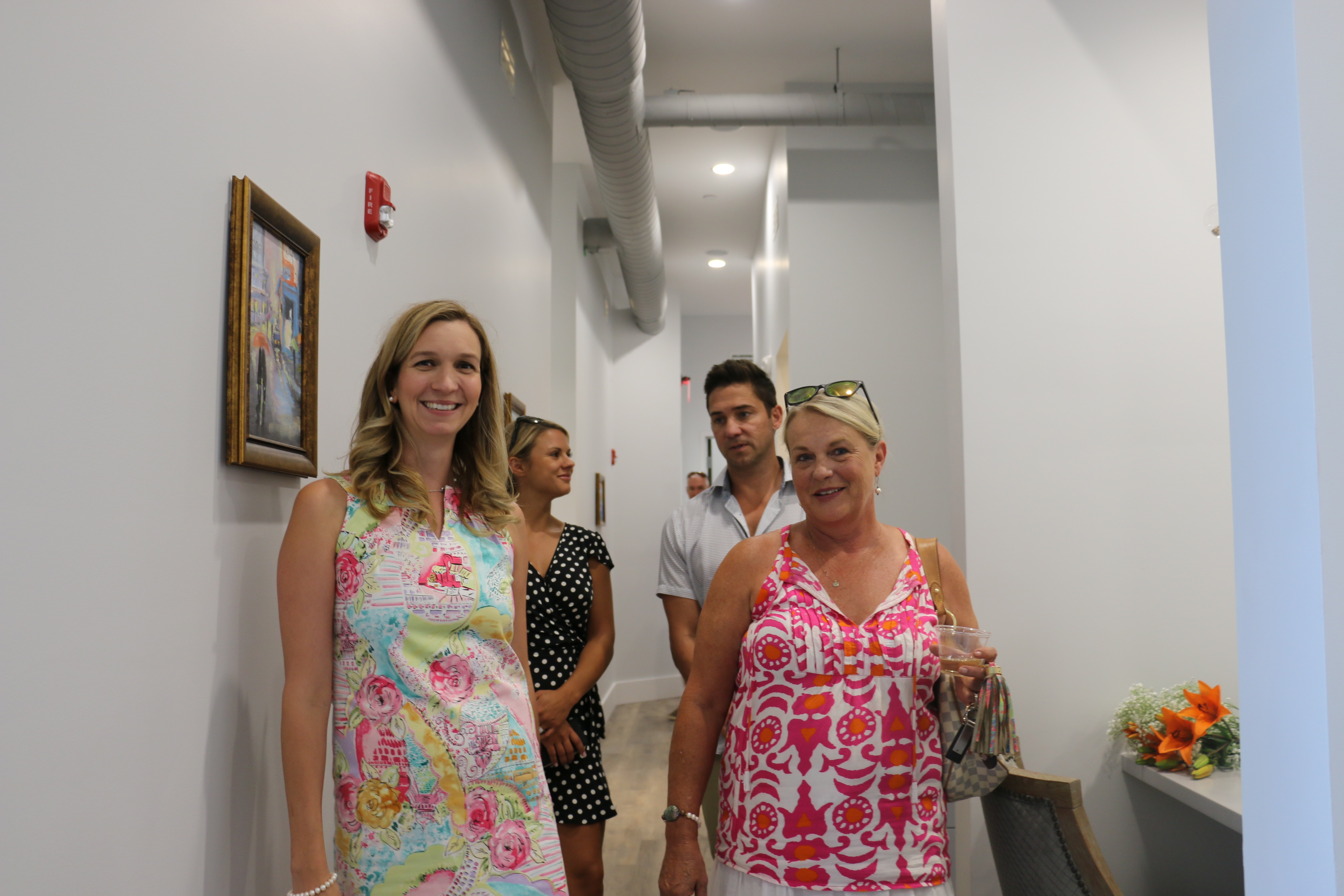 Dr. Zechmann gave tours of the new facility.