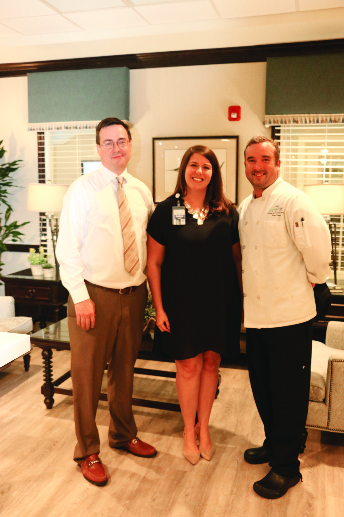 Wellmore team members Jack Myers and Emilee Padget, lifestyle advisors, and Adam Sears, director of creative dining.