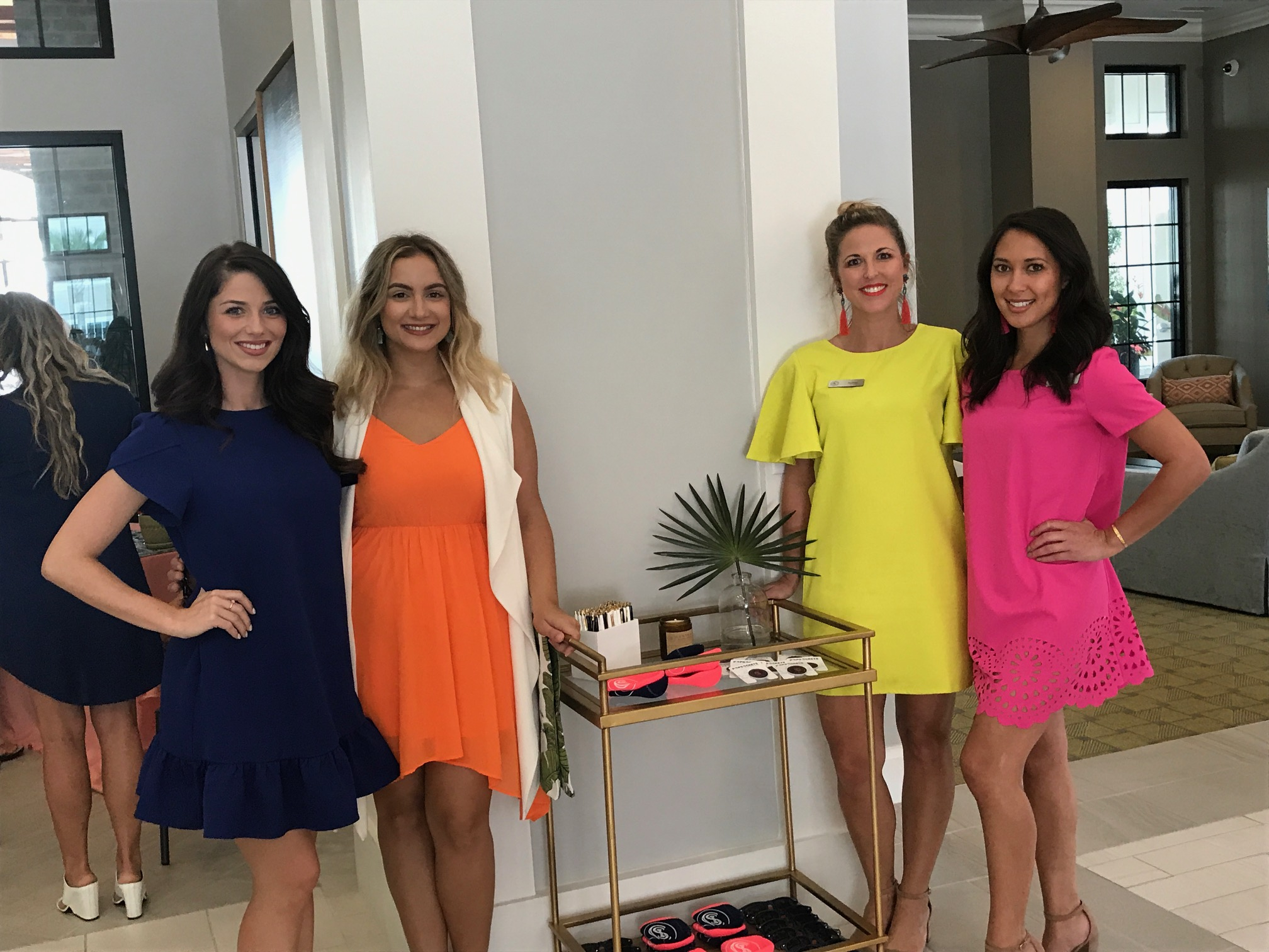 Representing Central Island Square, a sponsor and host of the event, were Meagan Pastorchik, Alexia Kakazioti, Ashley Venable, and Demi Tiqui.