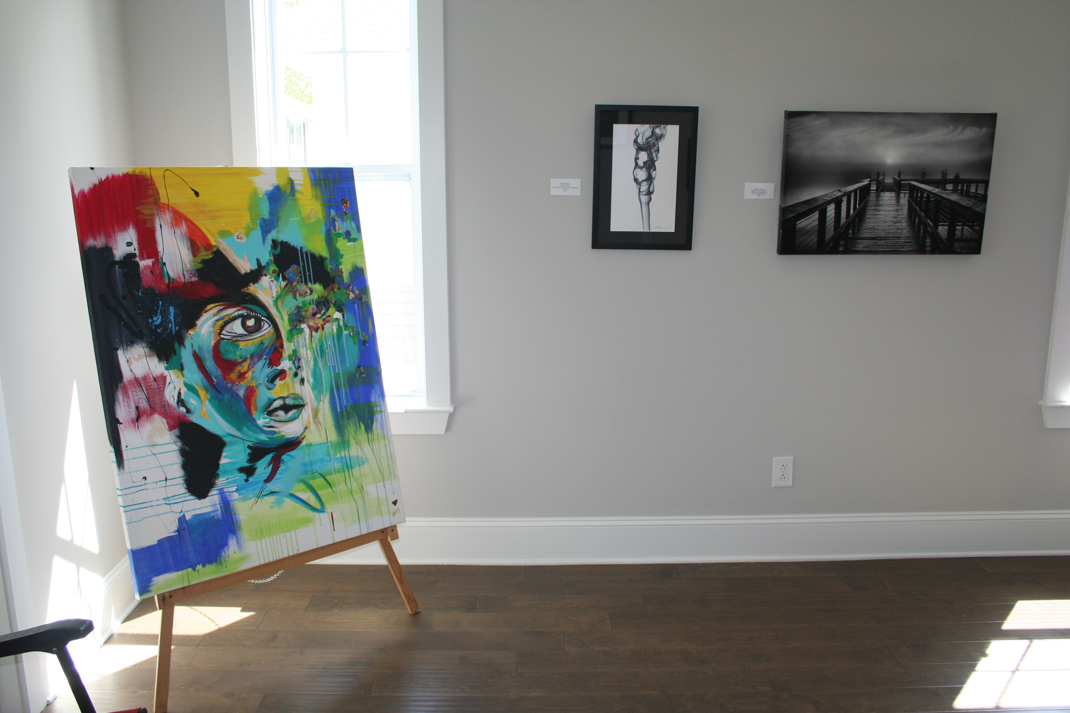 This piece, created by artist Kris Manning, was one of several on display and available for purchase.