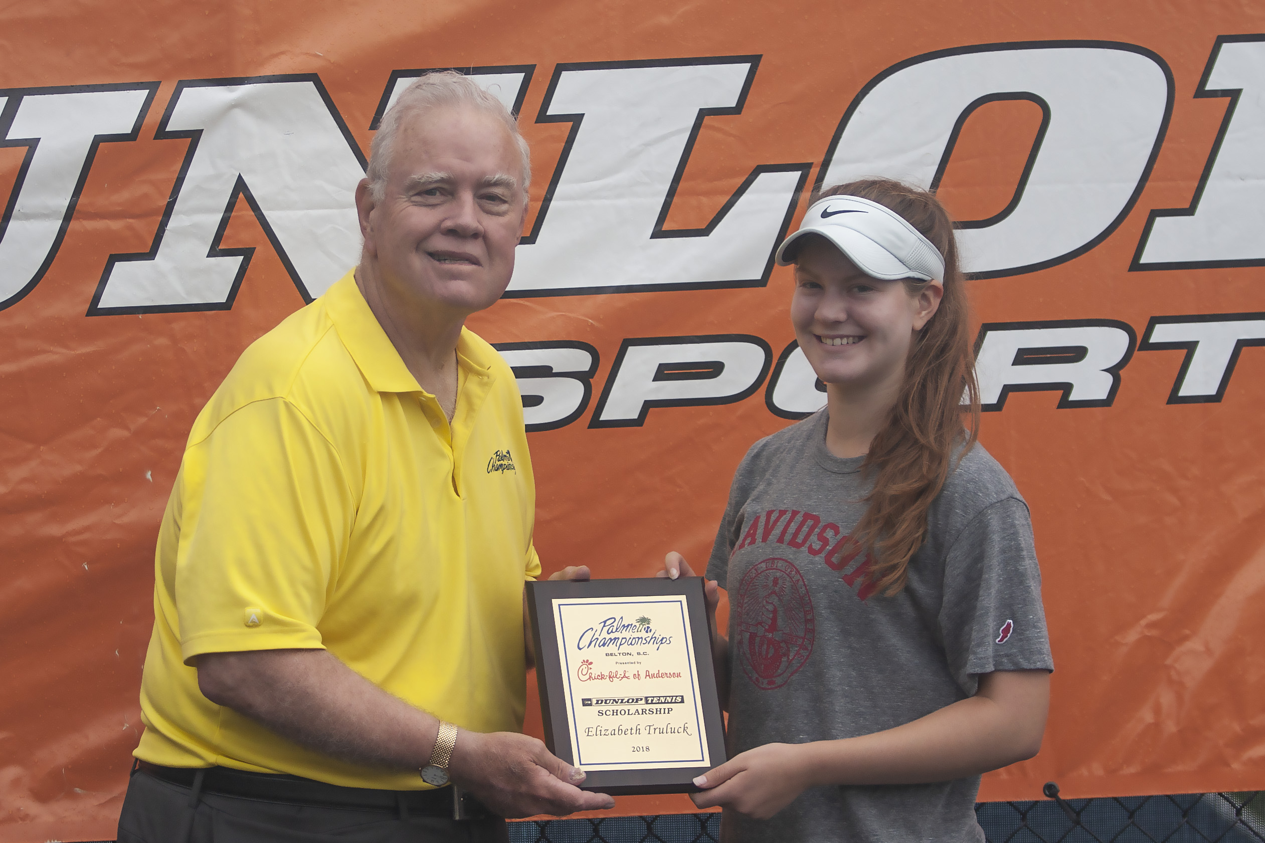 Elizabeth Truluck received a Dunlop Tennis Scholarship, presented by Chick-Fil-A of Anderson, at the event.