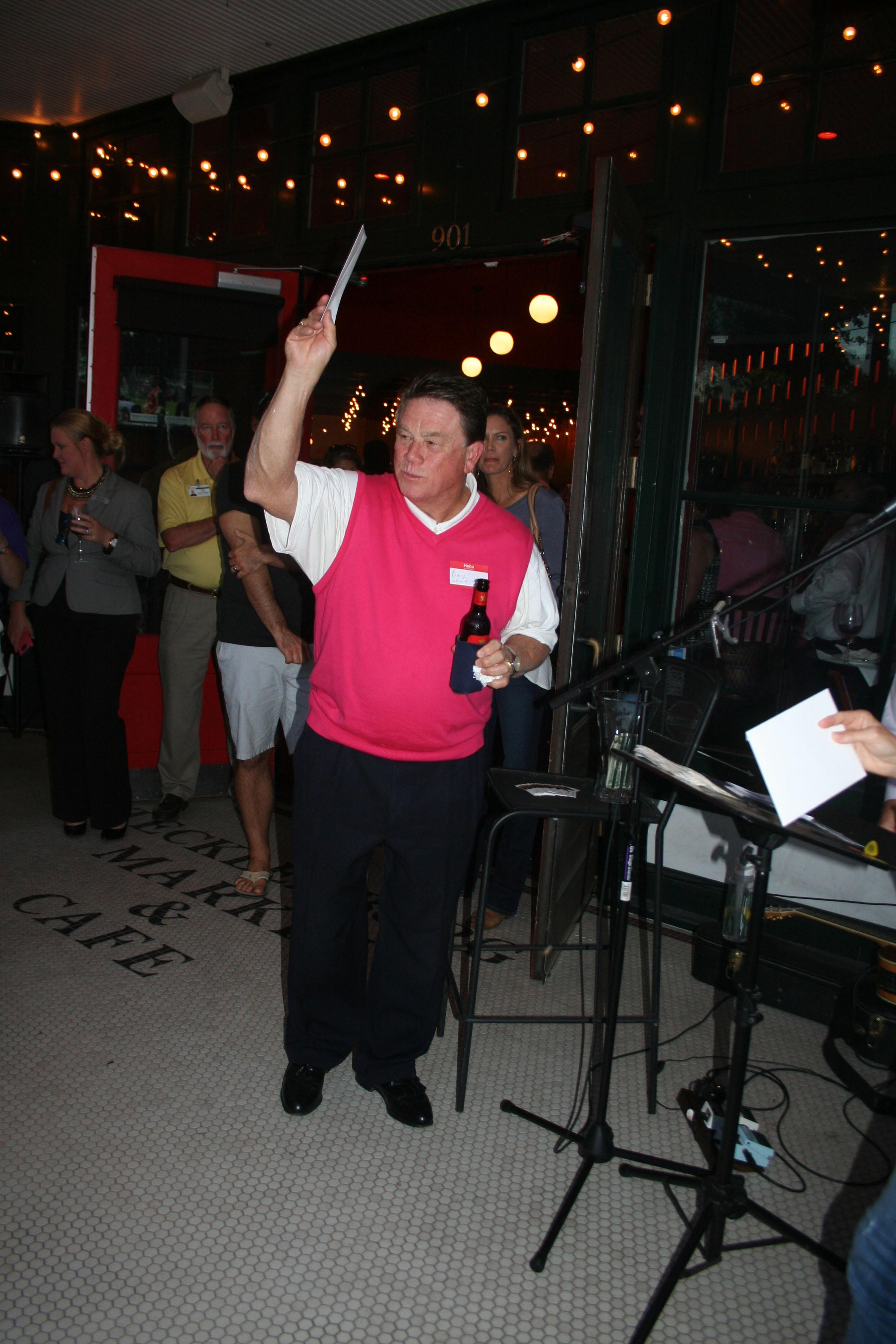 We have a winner! Islander Benji Dandridge was one of several lucky winners of various raffle prizes.