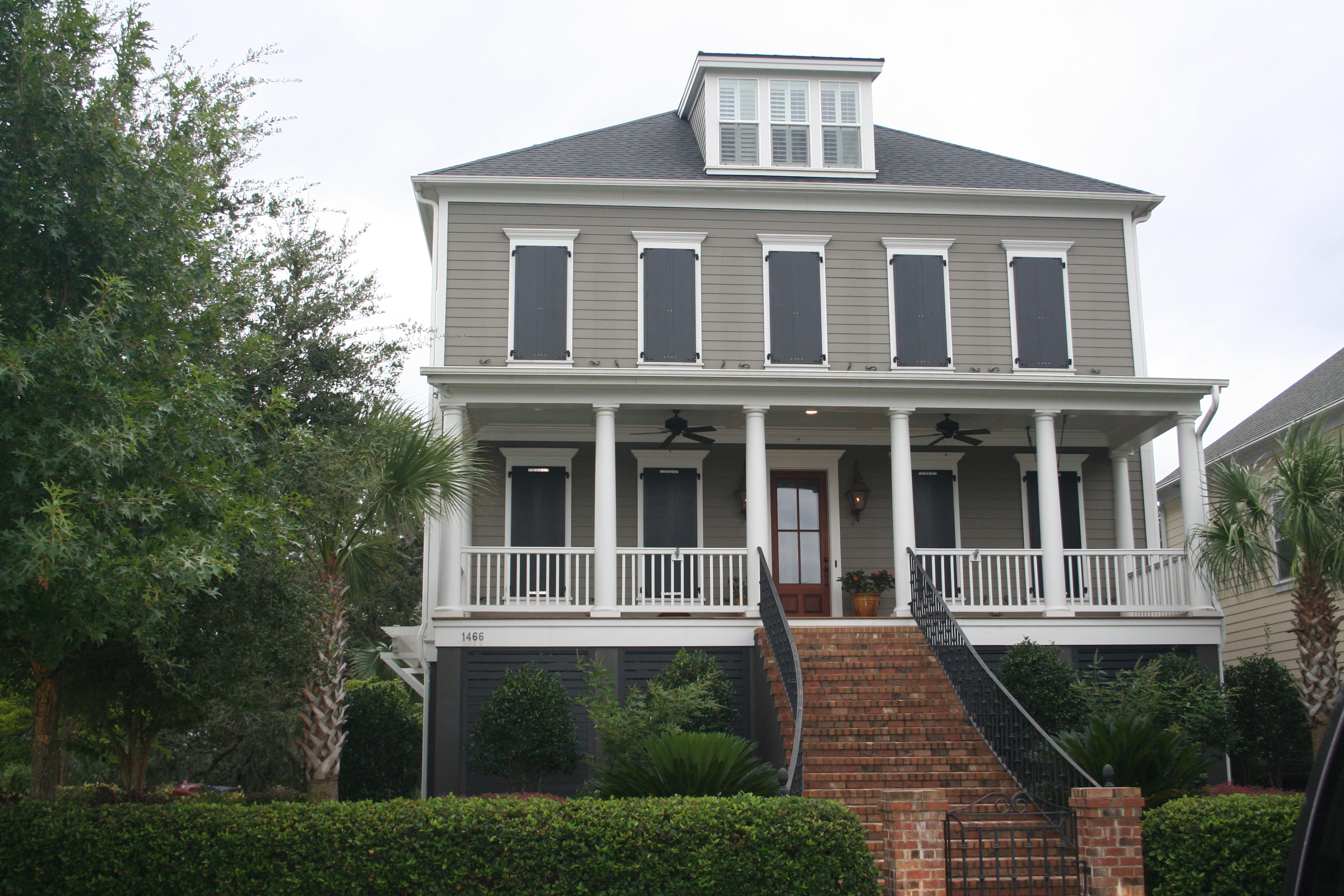 A storm-ready home on Wando View Street.