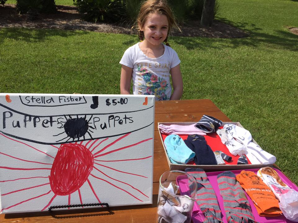 Stella Fisher and her family in Shell Ring hosted a lemonade stand for Hurricane Irma relief last weekend.