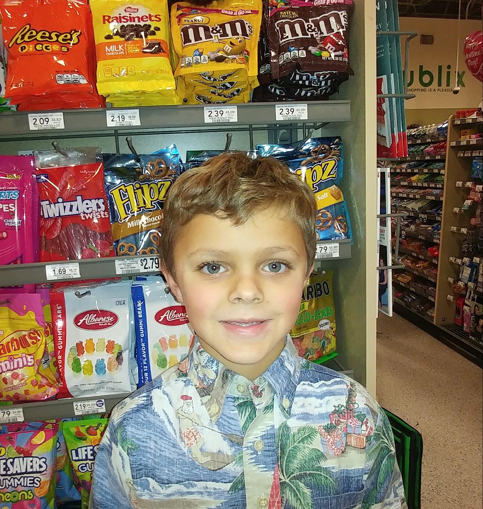 By giving them a hug.  Jason  Age 6