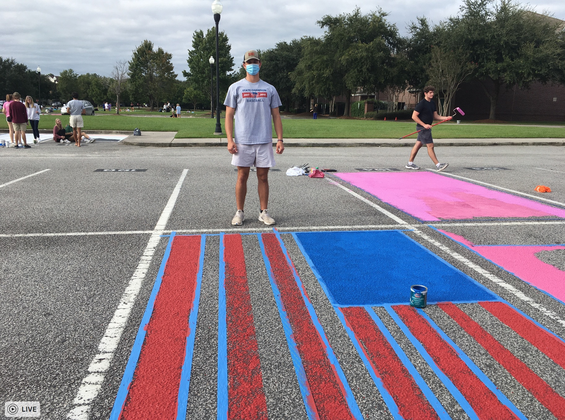 Chase Loggins, a 17-year old Bishop England senior who has committed to playing baseball for The Citadel, painted an American flag in honor of the country that he loves.