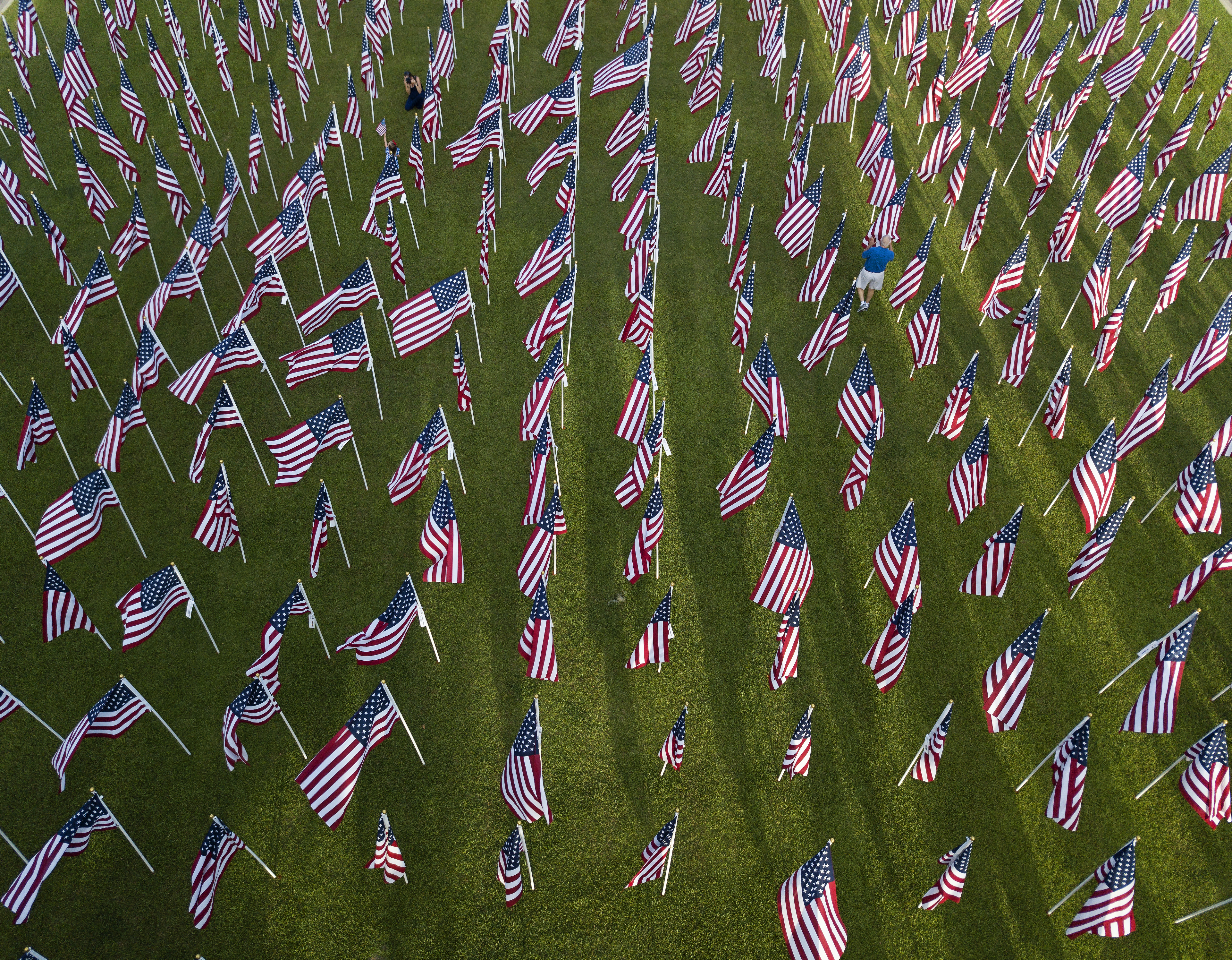 An aerial view of the Field of Honor.