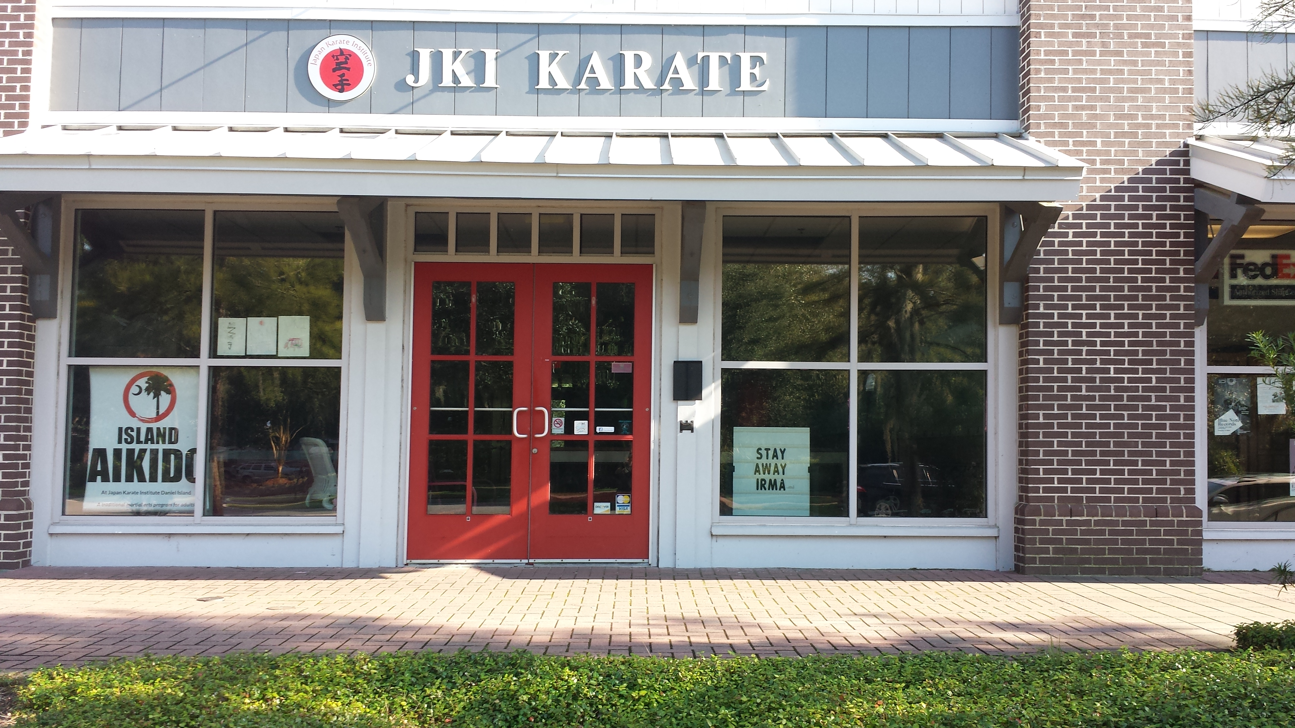 Japan Karate Institute displays a message for Irma!