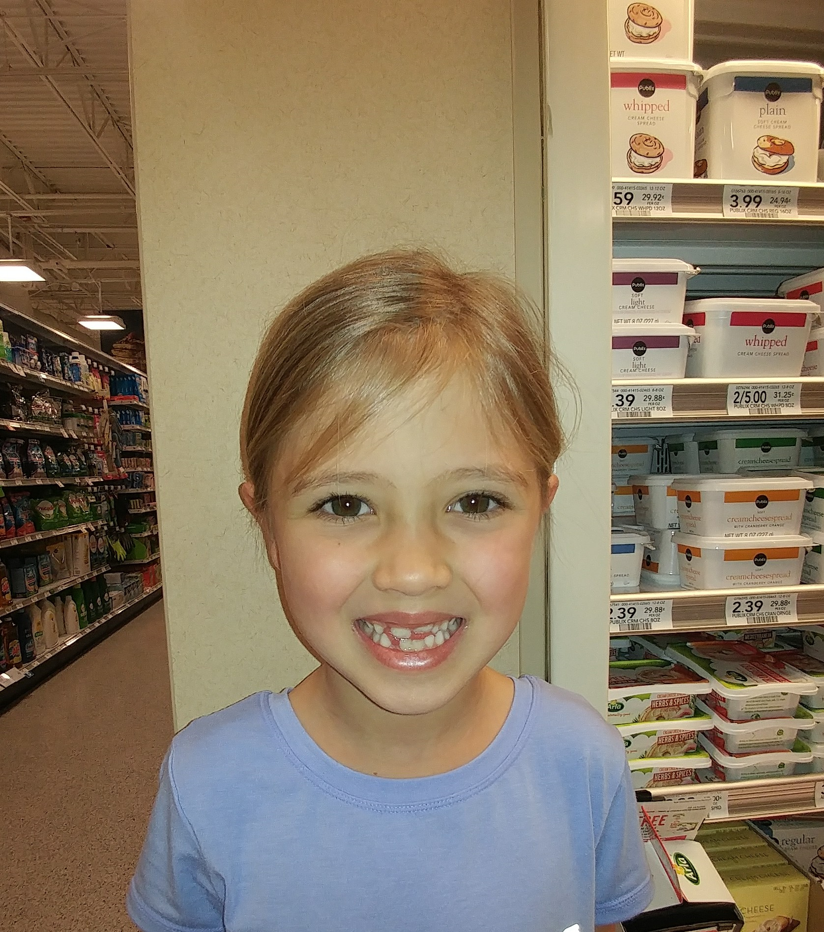 Mrs. Davey because she lets us have a dessert first on Tuesday.  Eva Grace  Age 6