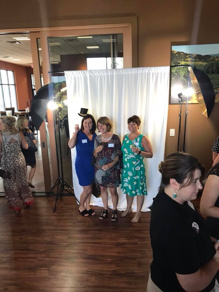 A photo opp was part of the networking fun!