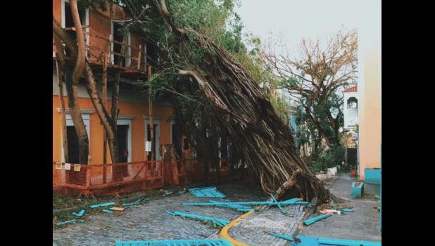 A photo of old San Juan after Hurricane Maria ripped through Puerto Rico.